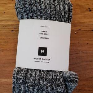 Richer Poorer Reina Over the Knee Textured Sock